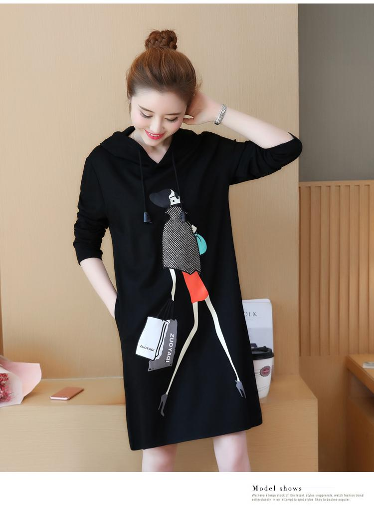 Plus Size Women Spring Dress Casual Big Size Cute Black Thin Dresses Sweet Girls Printed Shopping Design Loose Casual Dress 5XL