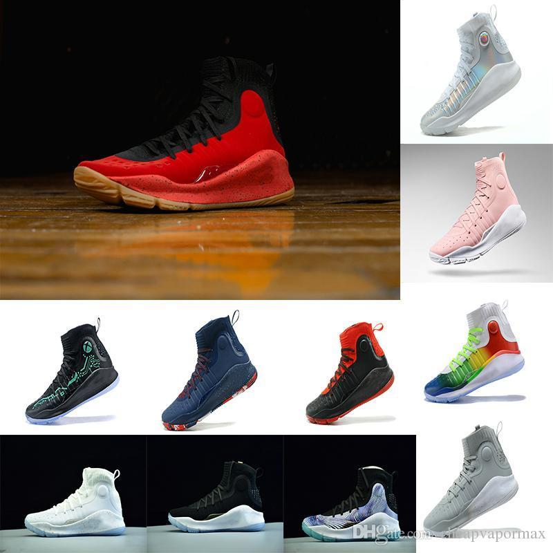 With Box 2018 Hot Stephen Curry 4 Basketball Casual Shoes Steph Mens ... 9df68151a