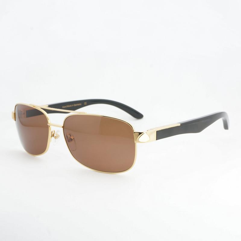 Compre Gafas De Sol De Moda Para Hombre Gafas De Sol De Búfalo Vintage Gafas  De Sol Cuadradas Para Conducir Al Aire Libre Gafas Gafas De Sol De Lujo  Gafas ... ae7b8a8c26dd
