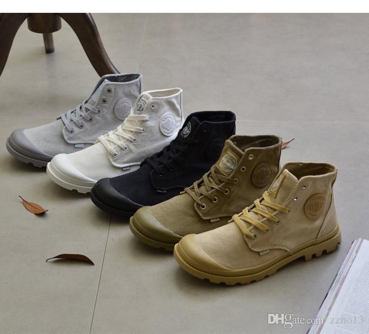 2018 Moda Paladio Estilo Zapatos Zapatos Zapatos Mujer Martin Botas Marca Hombre Zapatos de lona Primavera Retro hasta el tobillo Hombre Ejército Botas Cuero PU c589ac