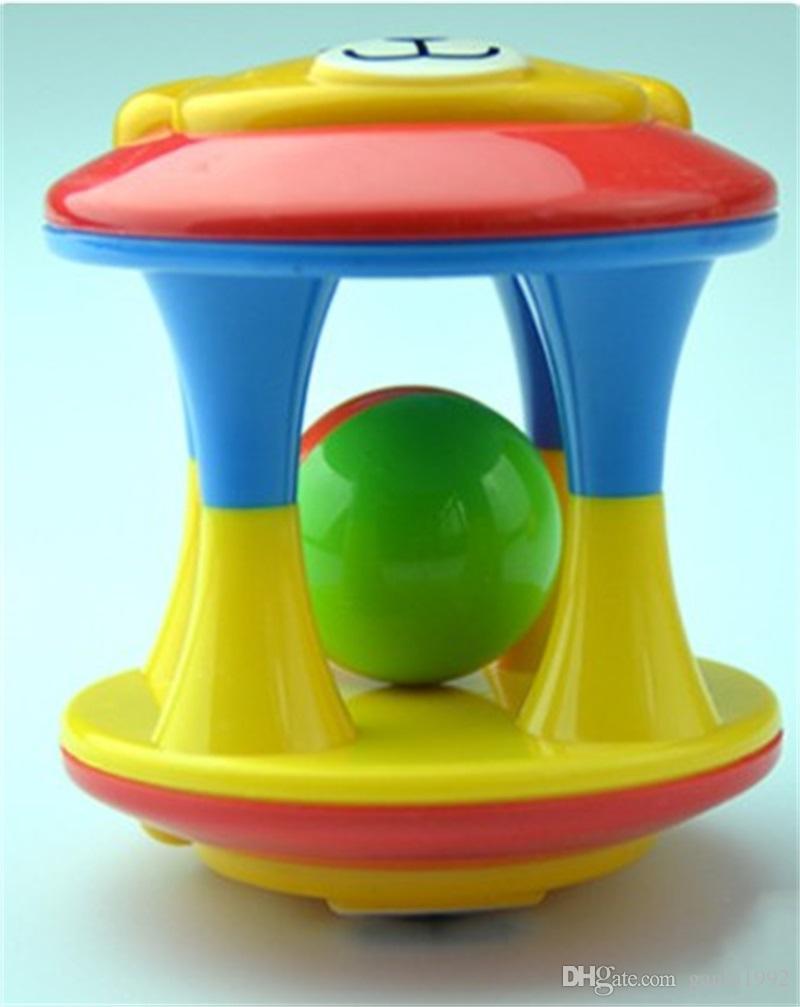 Lovely Animal Cartoon Bear Hand Shake Bell Ring Baby Early Learning Educational Toys Bells Ball 2 55kk C R