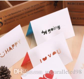 2018 new version large size paper small cards creativity