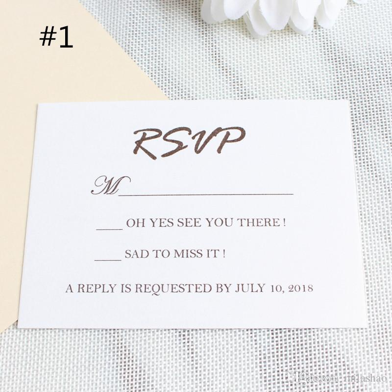 invitation rsvp card wedding respond card reception card shimmer