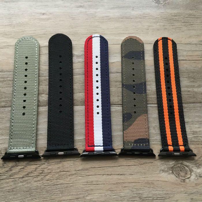 Novo para apple Watchband tecido Fino nylon à prova de suor pulseira de relógio dos homens 38 MM 42 MM
