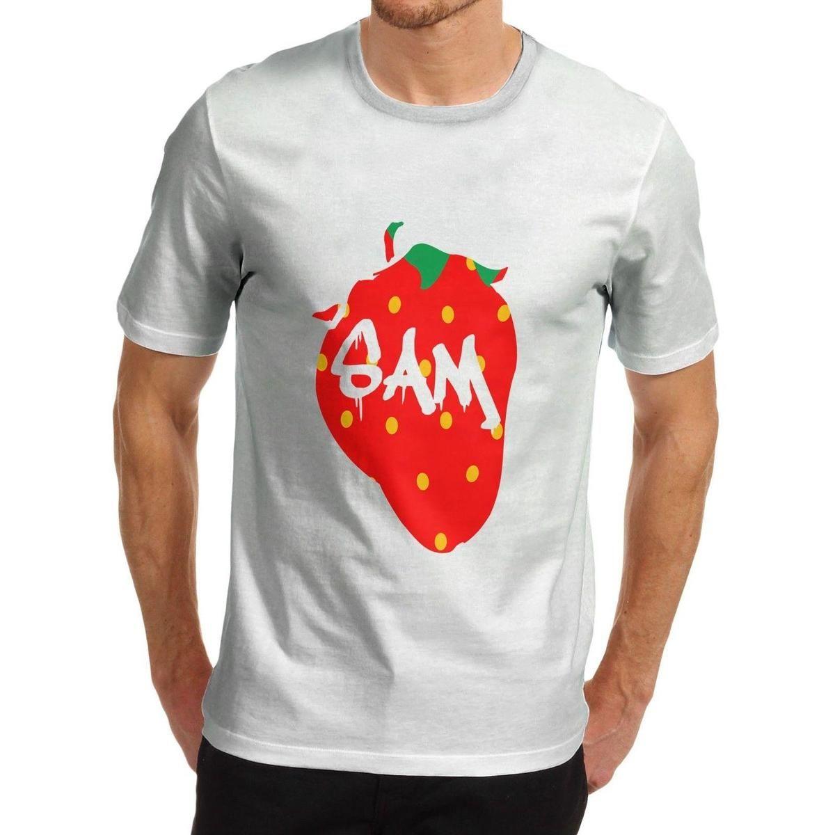 Compre Camiseta Personalizada Para Hombre De Fruit Strawberry Novelty A   11.87 Del Liguo0031  a448190fff546