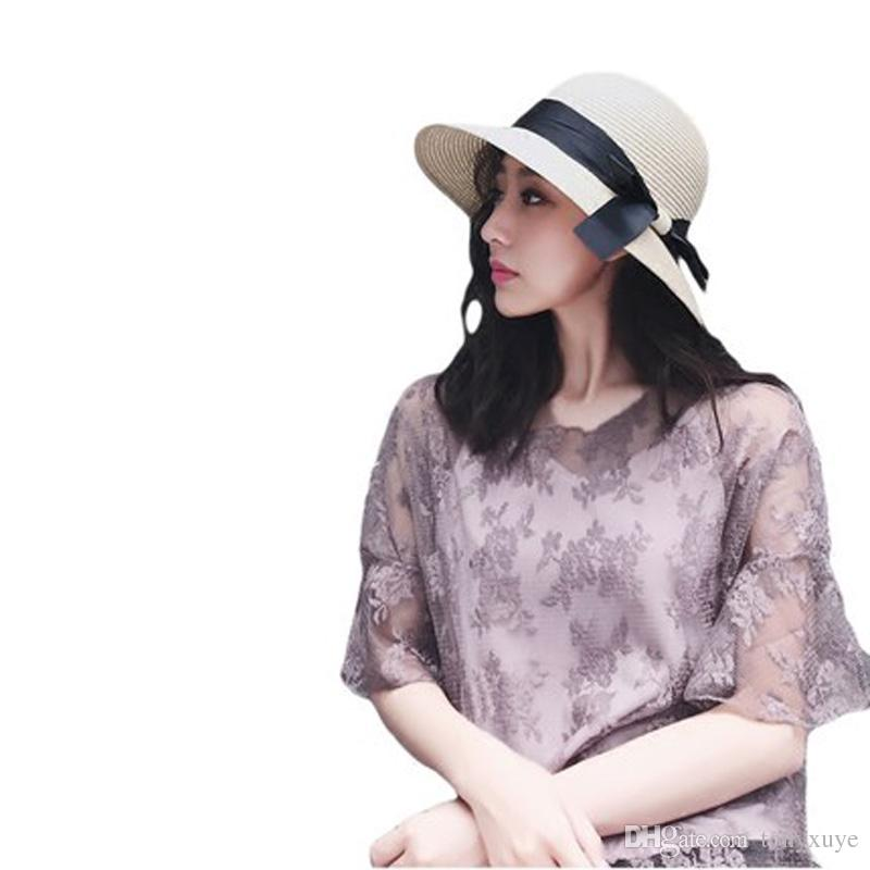 Large Floppy Hats Foldable Straw Hat Boho Wide Brim Hats Summer Beach Hat  For Lady Sunscreen Cups Outdoor Sun Hats Wool Hat Black Hats From Tonyxuye 2b01f1f6e22