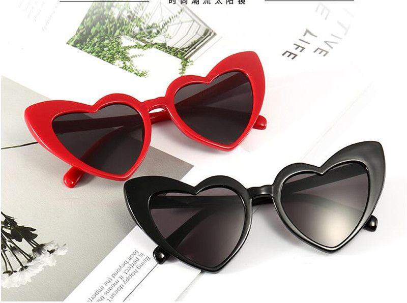 b8820cb1c96 2019 Heart Sunglasses Women Brand Designer Cat Eye Sun Glasses Retro Love  Heart Shaped Glasses Ladies Shopping Sunglass UV400 TO720 From  Goodgoods2018