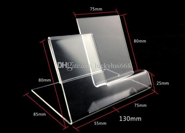 Fashion new style acrylic mobile cell phone display stand phone jewelry/watch holder With PriceTag Label display rack
