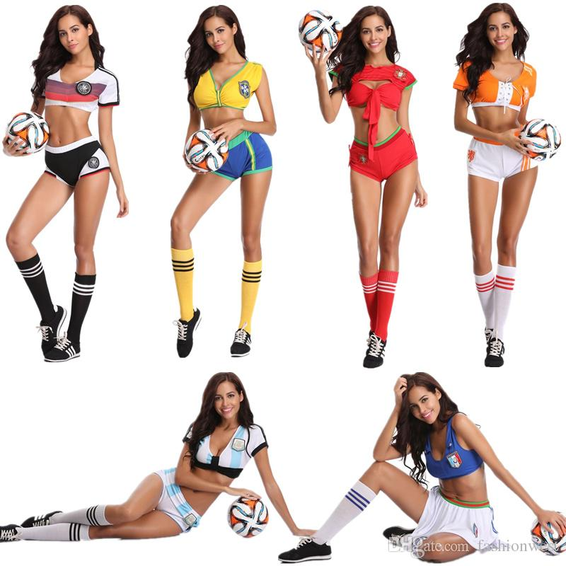 Girls Baby Cheerleader Football Baby Team Sports Suit Costume Nightclub Stage Clothing Role Play Cosplay Uniform