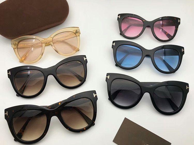 4182e2e4f17 2018 NEW TF0612 Big-butterfly female polarized sunglasses size51-21  Italy-imported plank muti-color sunglasses original case wholesale