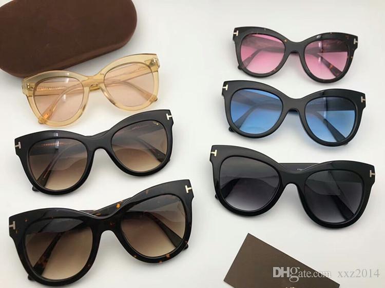 ae265ec24d53f Compre 2018 Novos Tf0612 Big Butterfly Óculos Polarizados Femininos Size51  21 Itália Importado Prancha Muti Cor Óculos De Sol Caso Original Atacado De  ...