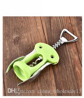 Plastic Wine Opener Zinc Alloy Tools Handle Waiter Cork Out Corkscrew With Arms