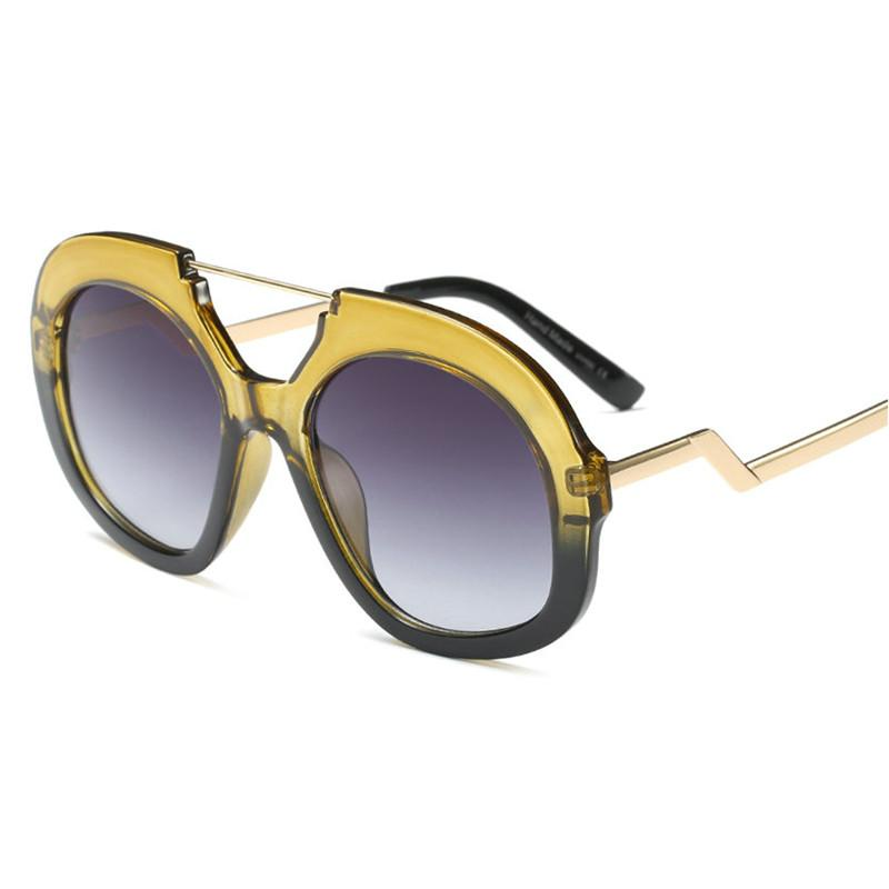 a68f7316d54 2018 Fashion Women Oversized Round Sunglasses Brand Designer Retro Classic  Transparent Frame Polygon Ladies Sun Glasses FML Online with  23.42 Piece  on ...