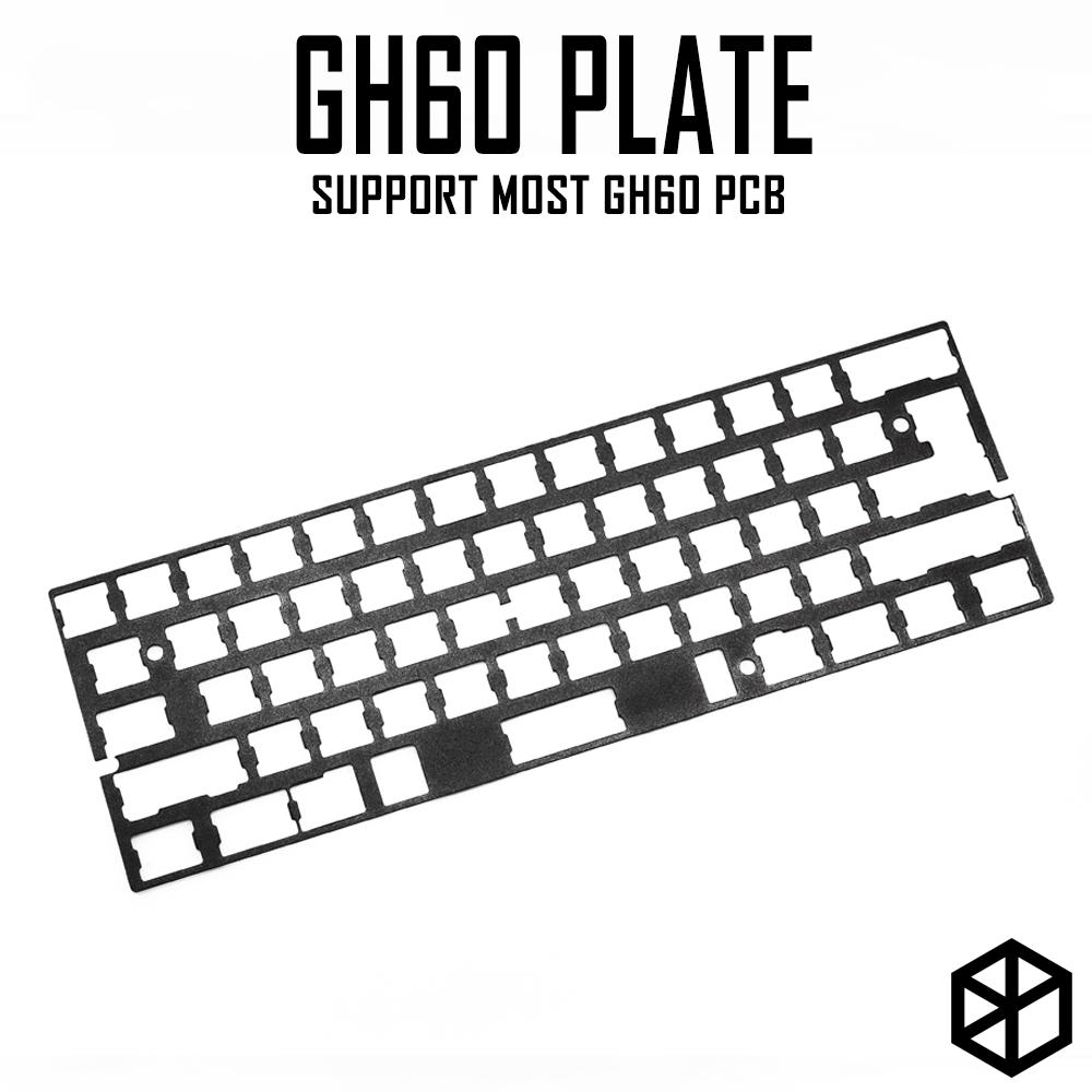60% anodized aluminum Mechanical Keyboard Plate support 60% Gh60 xd60 xd64  poker 1 2 3 black color 1 5mm thickness