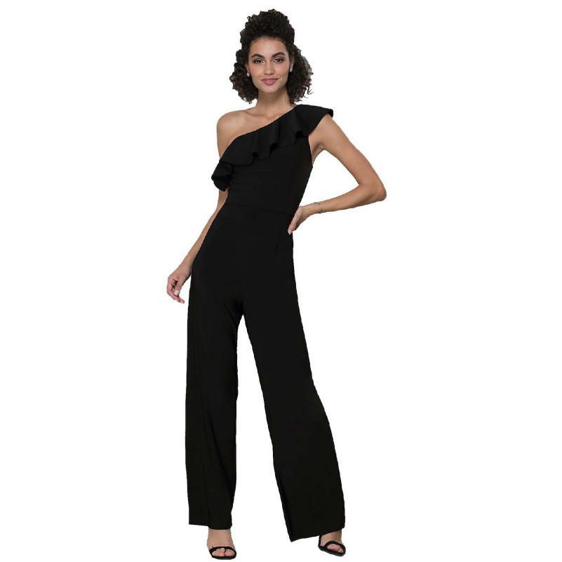 98706a16ca Acheter MUXU Noir Combinaison Sexy Body Une Pièce Corps Femmes Monos Largos  Mujer Pantalon Largo Combi Dos Nu Hors De L'épaule De $40.82 Du Bearlittle  ...