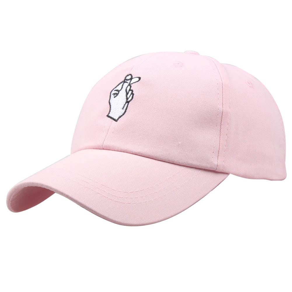 ba6f420f0966a Fashion Summer Korean Baseball Cap Cotton Adjustable Sun Hat Men And Women Hip  Hop Caps Finger Gesture Snapback Hats MX Custom Hats Mens Hats From ...