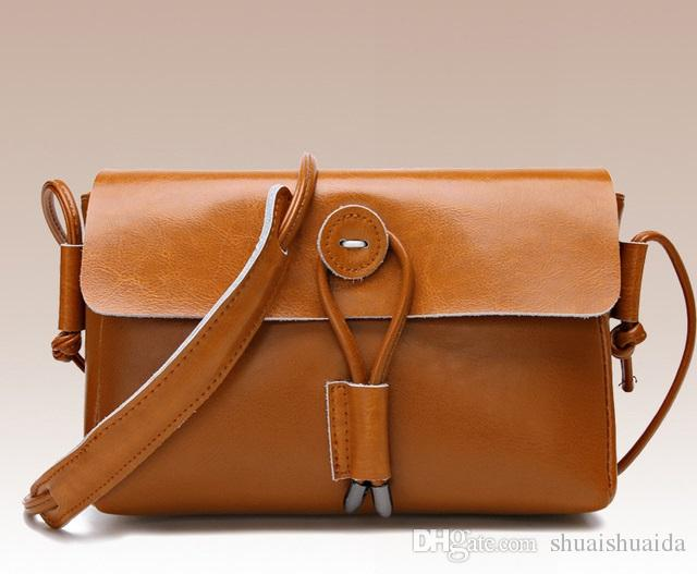 a647941508e1d 2018 Handbag Small Mini Fashion Casual Lady Bag Women Mobile Phone Bag Hand Grab  Bag Cross Body Shoulder Bags Black Genuine Leather A6570 Mens Bags ...