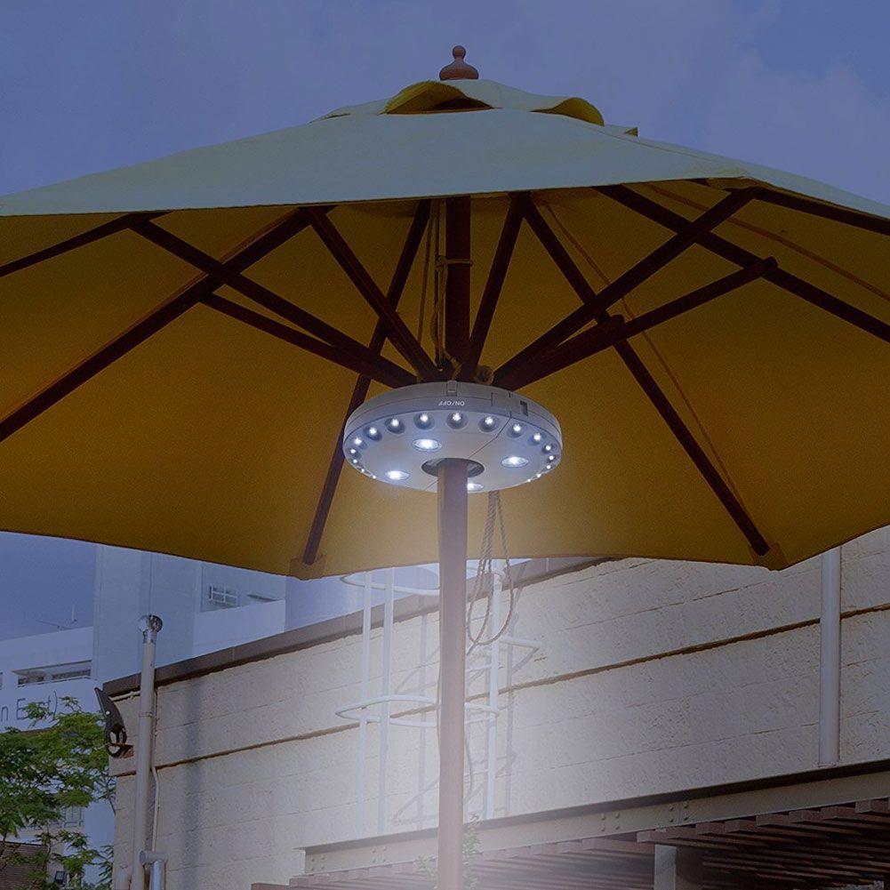 Outdoor Cordless 28LED Patio Umbrella Pole Light Garden Portable ...