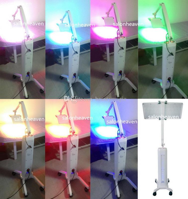 Popular PDT LED Máquina de Terapia de Luz Bio Wth 7 Cores LED Terapia de Luz PDT LED Facial Skin Rejuvenescimento Máquina de Piso Móvel Móvel