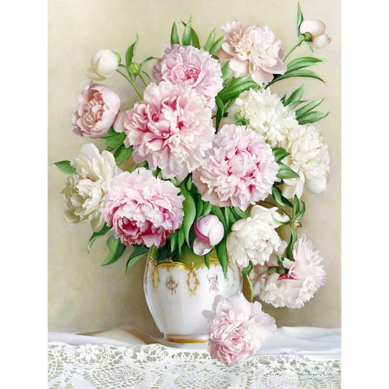 2019 Rose Vase Peony Full Square 5D Diy Diamond Painting Cross Stitch  Embroidery Round Rhinestone Mosaic Decoration 3D Photo Gift From Aiyier 95d7e424f985