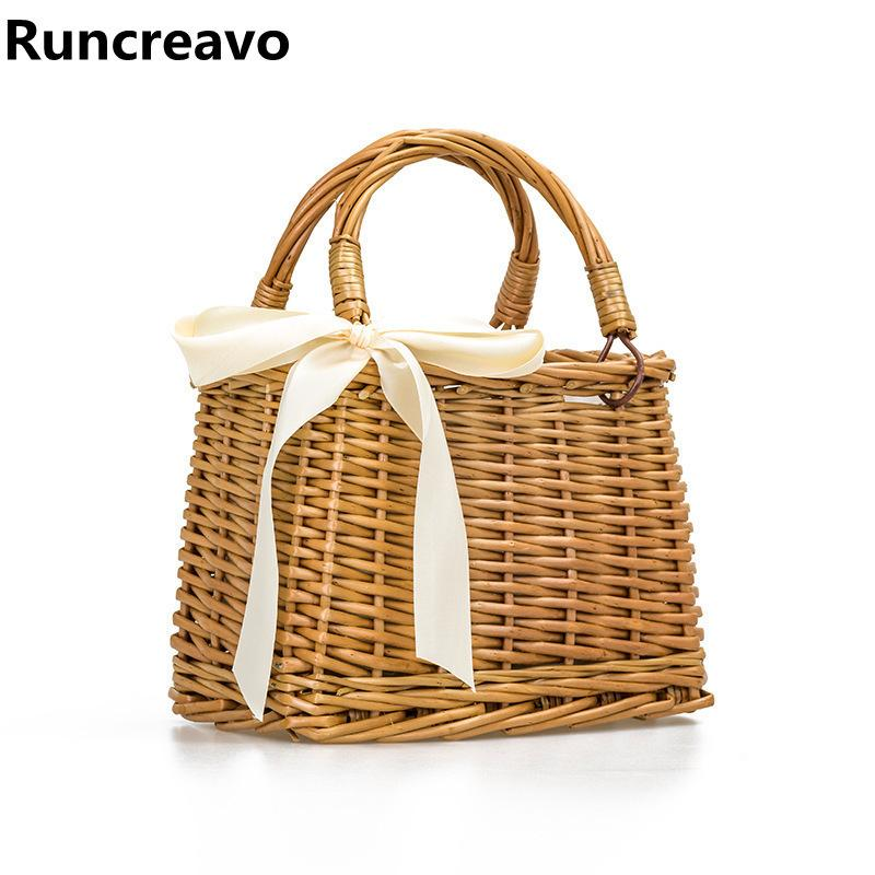 03492a01a843a Summer Ribbon Tote Bags For Women 2018 Luxury Handbags Women Bags Designer  Famous Brand Ladies Rattan Beach Bag Wicker Straw Bag Black Handbags  Handbags ...