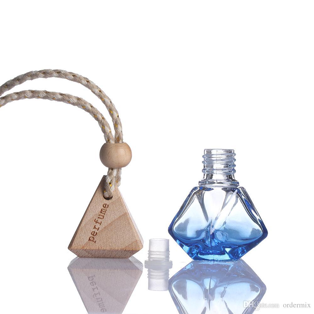 ¡¡Color aleatorio!! 1 Unids 2018 Nuevo Ambientador de Aire Caliente Coche Difusor Colgante de Cristal Vacía Botella de Fragancia de Perfume de Regalo