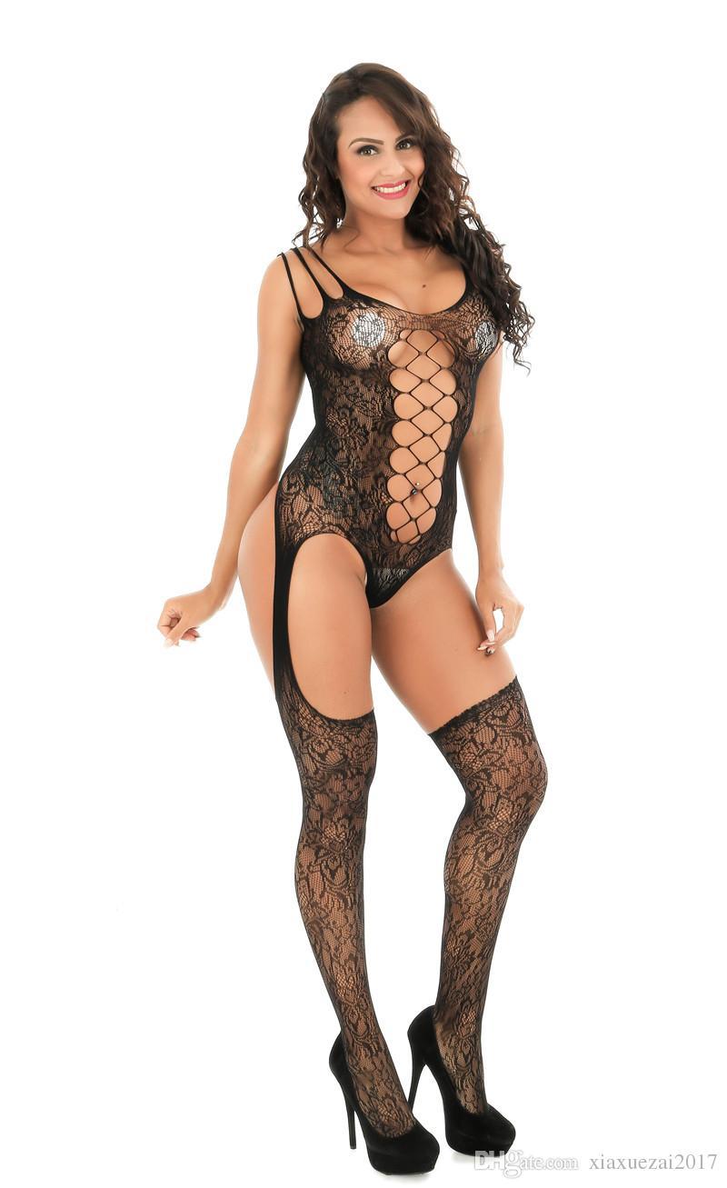 donne intimo collant corpo pieno dobby nero Calze calzetteria moda sexy vendita calda biancheria intima da donna