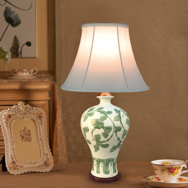 2018 tuda 30x55cm traditional chinese style table lamp vase ceramic 2018 tuda 30x55cm traditional chinese style table lamp vase ceramic table lamp high grade fabric lampshade from cornelius 14819 dhgate aloadofball Images