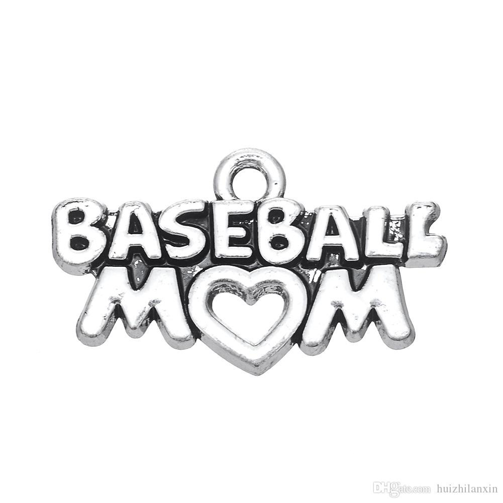Fashion Latest Style DIY Jewelry Lettering BASEBALL MOM Metal Pendant Jewelry Charms Dangle Accessories