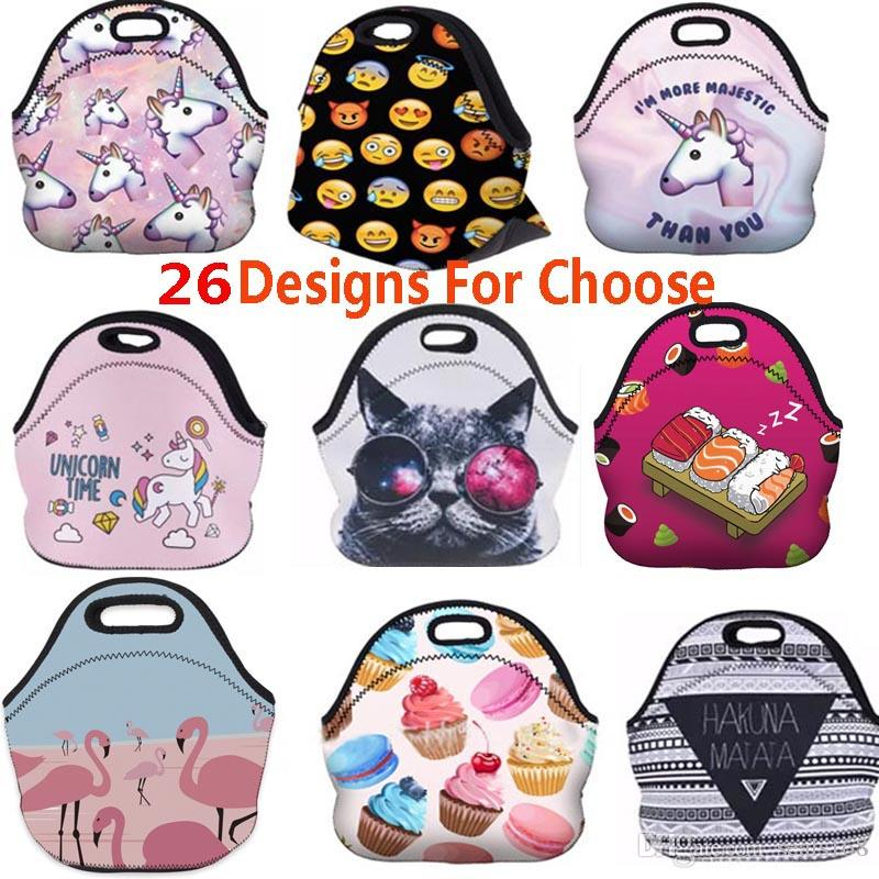 2019 3D Printed Thermal Insulated Lunch Box Emoji Unicorn Waterproof Picnic  Snack Bags Cooler Insulation Storage Containers Organization HH7 256 From  ... 3844d55f46e0a