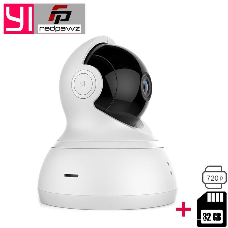 International Xiaomi YI Dome Camera 112 720P 360 PTZ Xiaoyi IP Camera WiFi  Webcam Two-way Audio Night Vision 32 GB SD Card
