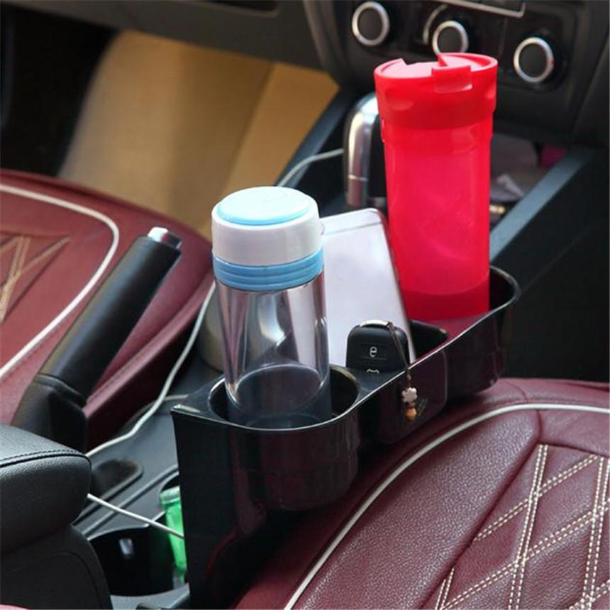 Car Styling Black Universal Drink Beverage Holders Seat Wedge Auto