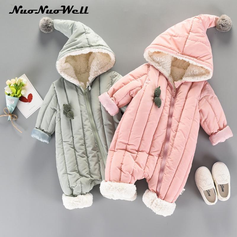 e6211266f0c6 2019 Baby Snowsuit Infant Boys Girls Jumpsuit Winter Thick Romper ...
