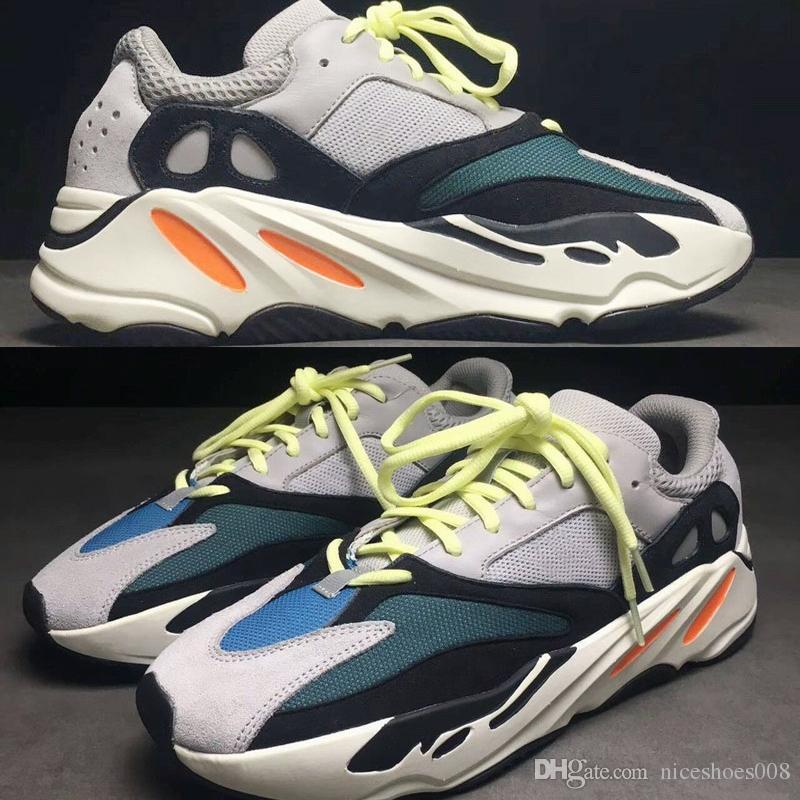 buy popular 5b0e6 426a6 Adidas Yeezy 700 Shoes Senaker 2019 Kanye West 700 Runner Wave La Mejor  Calidad Deportes Zapatillas Deportivas Zapatillas Hombres Mujeres Negro  Azul Gris ...