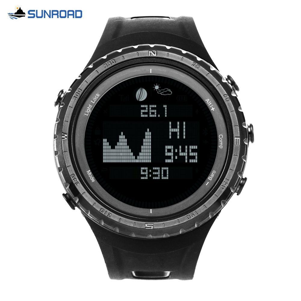 7690656d9063 Compre SUNROAD Hombre Mujer Marea Digital Reloj Deportivo Altímetro  Barómetro Podómetro Cronómetro Reloj 5ATM A  128.07 Del Wonderliu