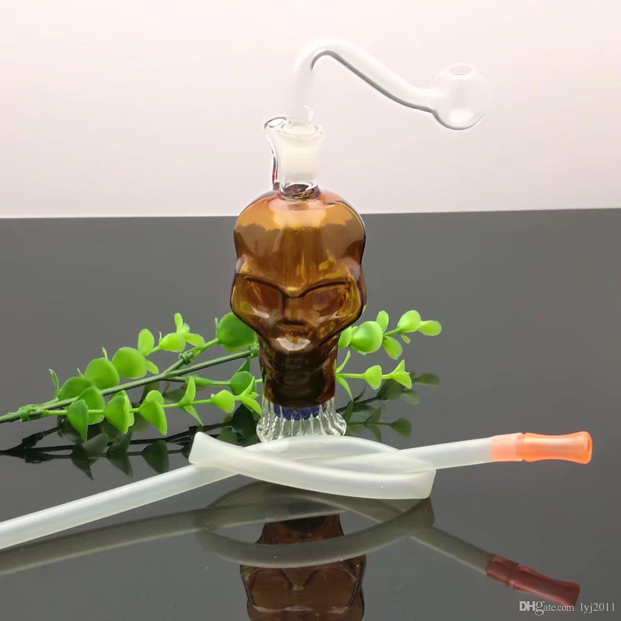 Mini farbigen Knochen Glastopf Großhandel Glas Bongs Ölbrenner Glas Wasserpfeife Öl Rigs Rauchen Rigs