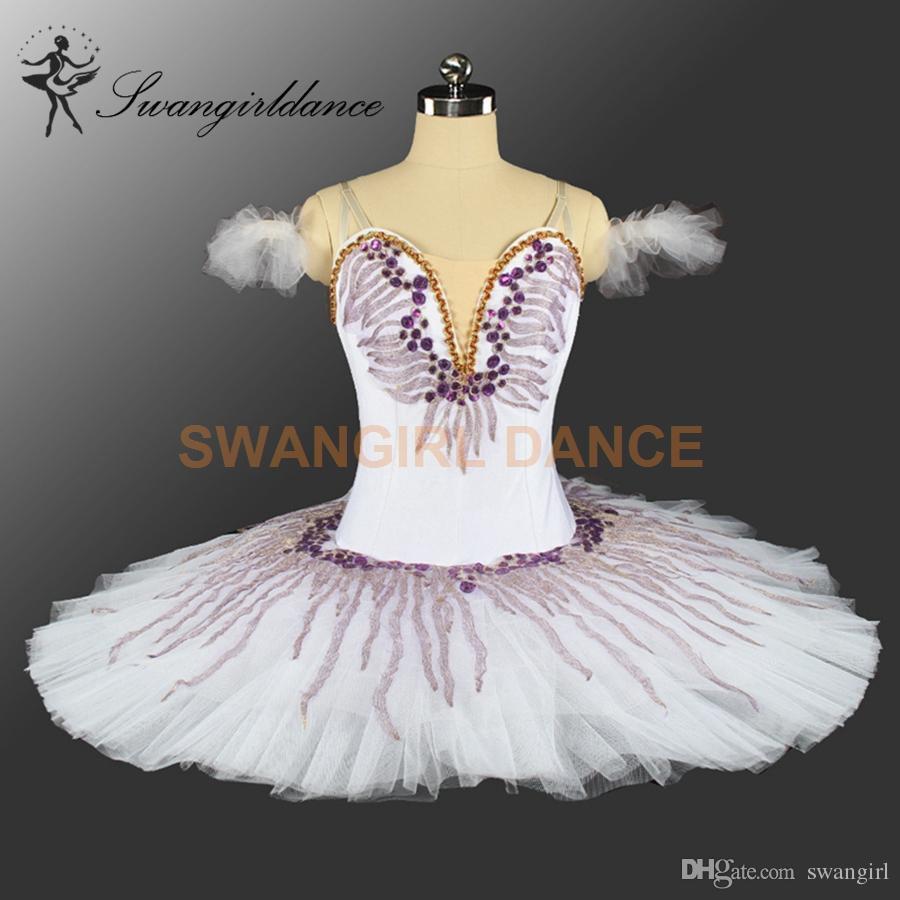 Swan Lake White Purple Ballet Tutu Girls Classical Performance Professional Pancake Tutus Adult Ballet Stage Costumes for women BT9146