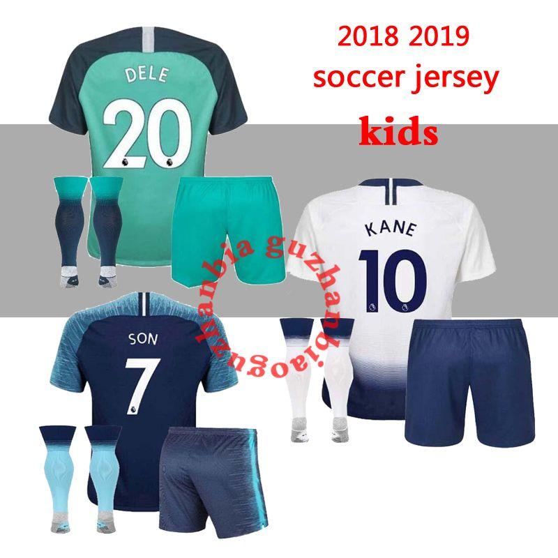 e290e3a426 Compre Kits Para Niños + Calcetín KANE TOTTENHAM Spurs Jersey De Fútbol 2018  2019 LAMELA ERIKSEN DELE SON Jerseys 18 19 Football Kit Shirt KIDS KIT SET  ...