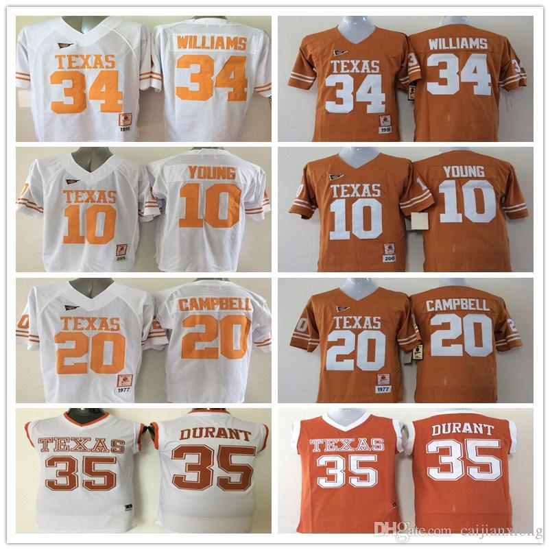 b7c9ebb1cfb ... wholesale 2018 10 vince young 12 colt mccoy 34 connor williams 35 kevin  durant jerseys 20