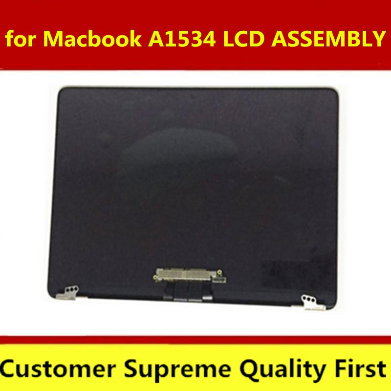 Original A1534 LCD Screen Assembly Gold Sliver for 12 INCH 2015 2016 year MF855 MF856 EMC 2746