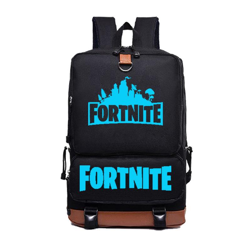 Bolsa Pack Mochila Adolescentes Viaje Fortnite Negro Hombro Battle Royale School Portátil Moda Fluorescente Harajuku Bag lJ3TF1Kc