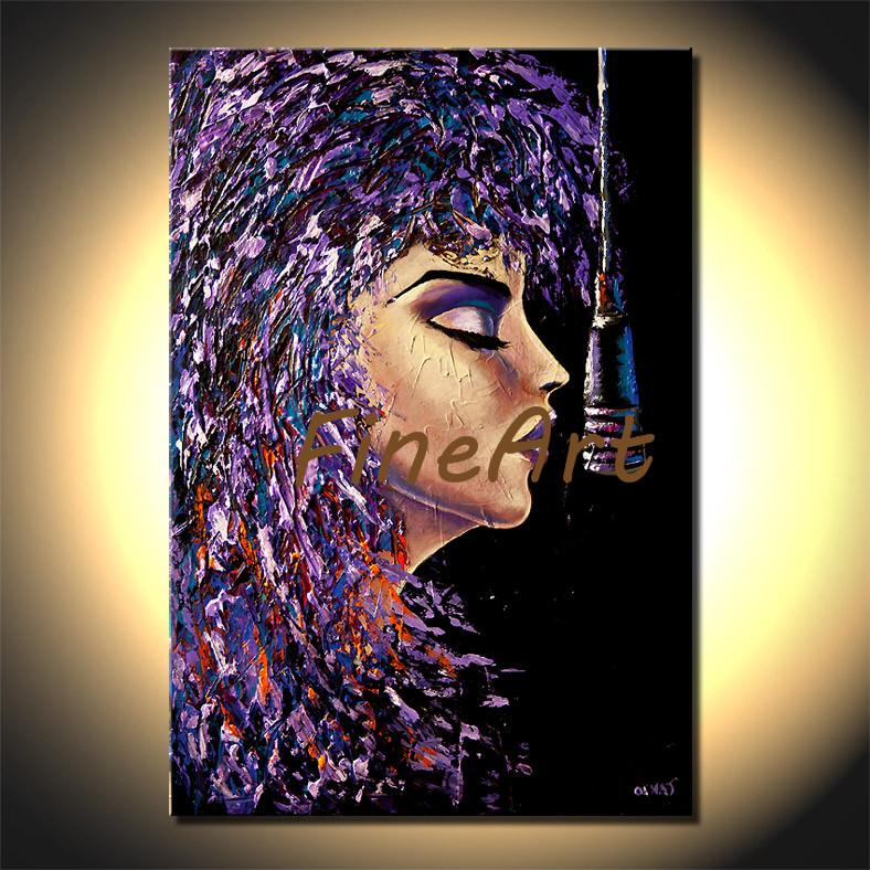 large contemporary wall décor canvas palette knife heavy texture oil painting abstract singer acrylic painting canvas arts oil paintings for