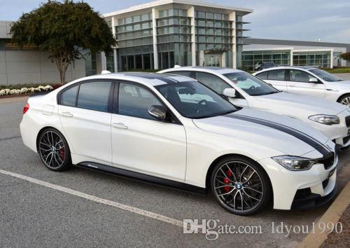 Skirt Sill Decal Side Stripe M Performance Sticker for BMW 3 Series F30 F31