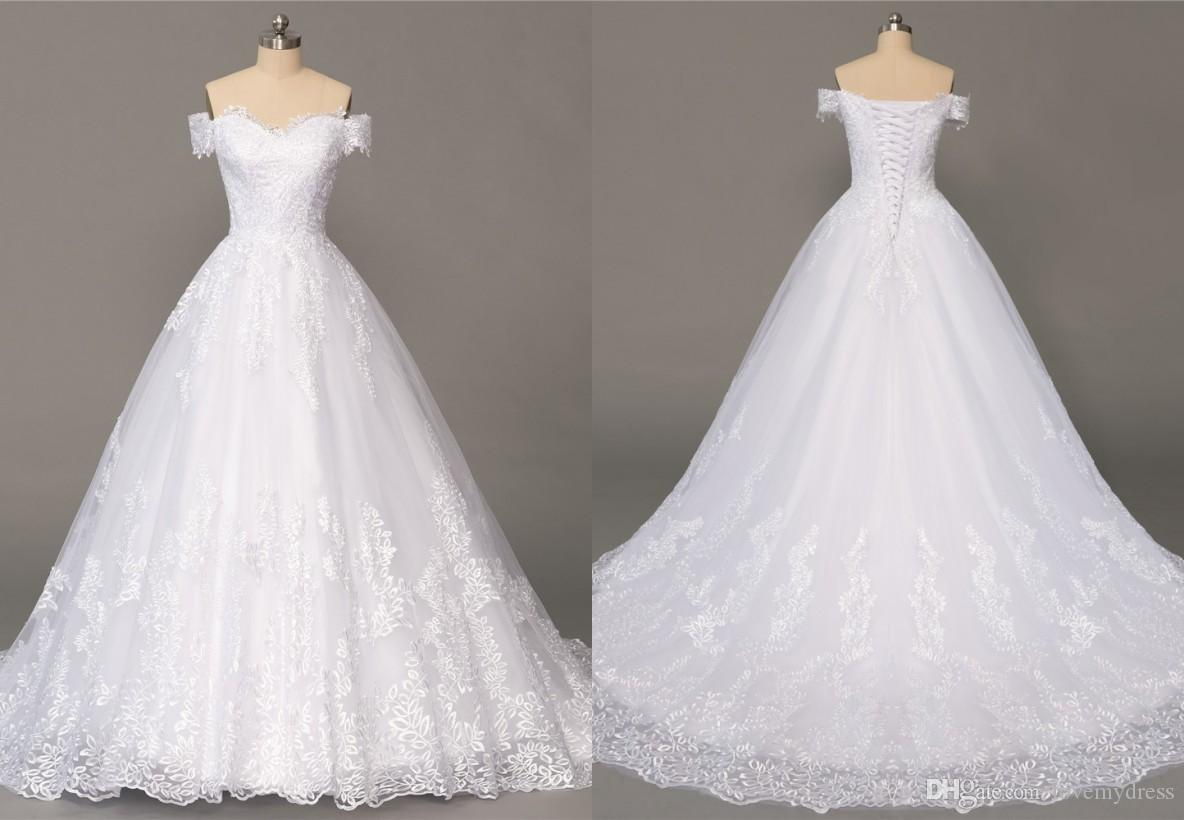 Discount romantic country stylish wedding dress with off the