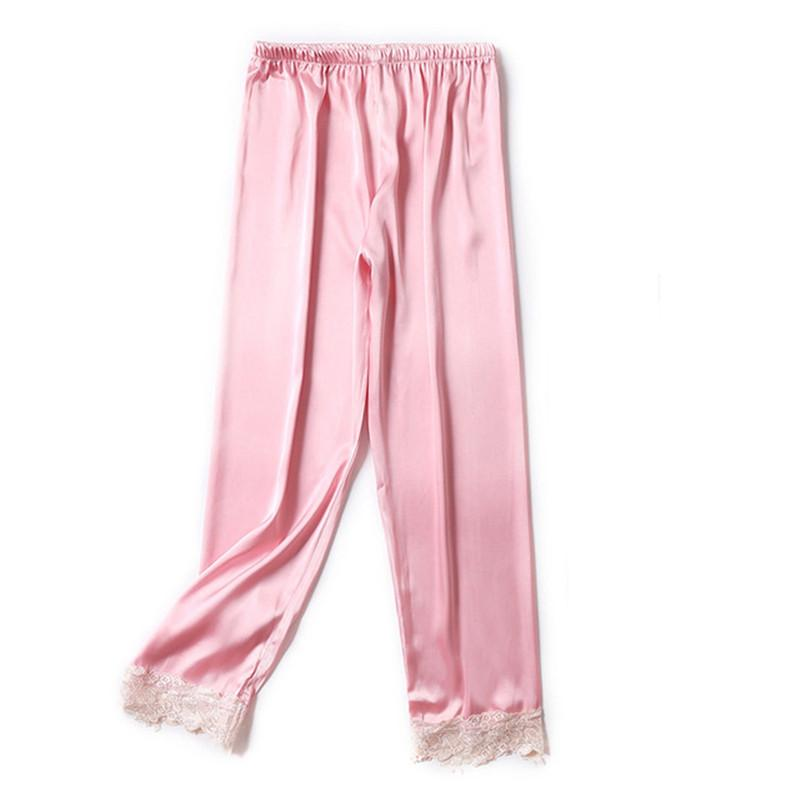 1a5cef4f88d 2019 Sexy Pajama Pants Women Silk Sleep Bottoms Satin Home Pants For Women  Plus Size Indoor Trousers Pijama Femme Sleepwear From Kennethy