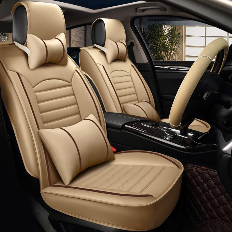 pu leather car seat cover four seasons universal luxury automobilespu leather car seat cover four seasons universal luxury automobiles seat covers black blue beige brown car interior accessories lumbar seat cushion lumbar
