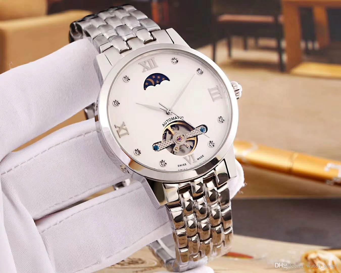 6c9753caf91 Compre Mens De Luxo Da Marca Premier Gentleman Relógio Automático Turbilhão  Movimento Mecânico 41mm   14mm Mineral De Cristal De Vidro 316l Caso De Aço  De ...