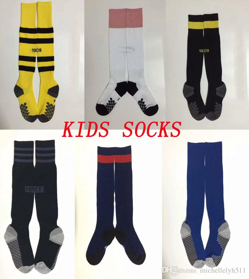 2018 2019 Kid S Soccer Socks Real Madrid Knee High Stocking ARS Thicken  Towel Bottom Long Hoses Int Outdoor Sports Socks Football Stocking UK 2019  From ... 17148370974