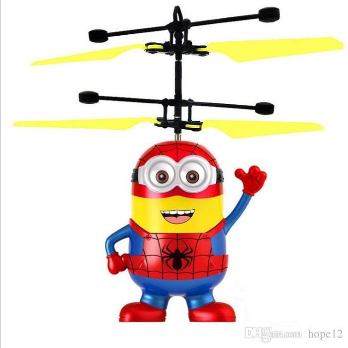 Dhl شحن مجاني rc هليكوبتر الطائرة بدون طيار أطفال ألعاب تحلق الكرة الطائرات الصمام اللمعان تضيء لعبة التعريفي الاستشعار الكهربائية للأطفال