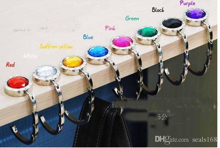 Free DHL 23 Style Creation Folding Metal Hand Bag Handbag Purse Hanger Hook Holder Table Hook Home&Garden Hooks Mix Colors ZJ-N52
